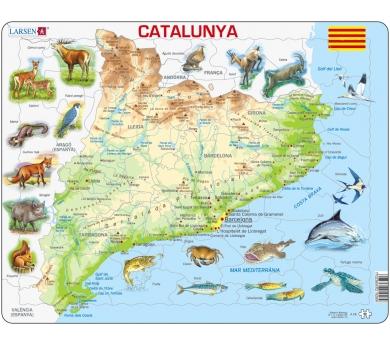 Mapa Puzzle de Cataluña– Físico