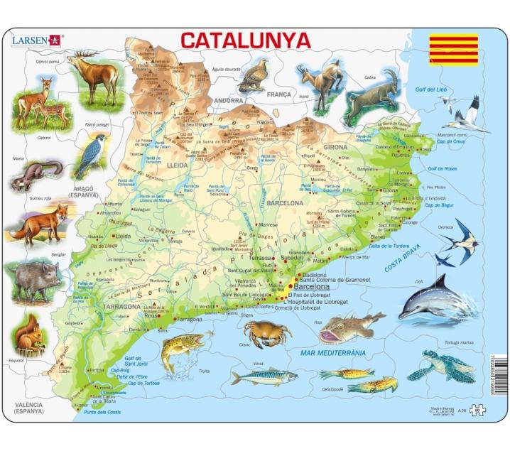 Mapa Puzle de Catalunya - Físic