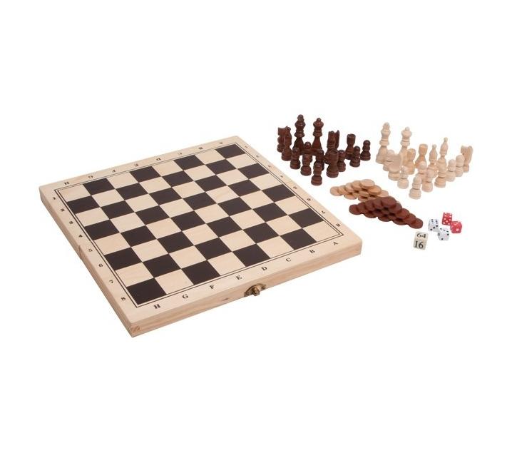 Juego de Ajedrez, Damas y Backgammon