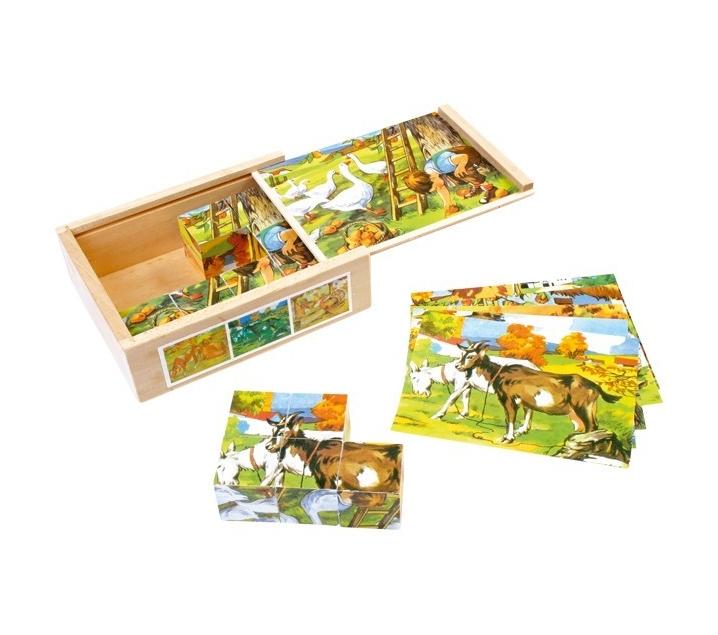 Puzzle de Cubos Granja