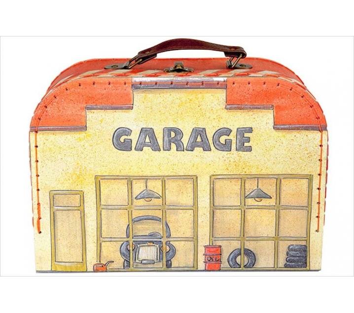 Maletín de juego garaje con coches