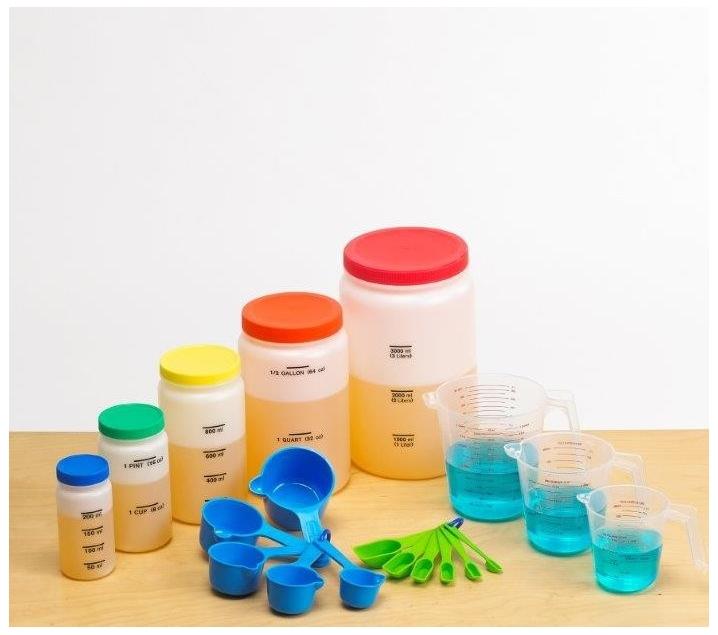 Set de medición volumétrica para líquidos