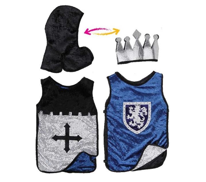 Disfraz reversible Caballero y Rey