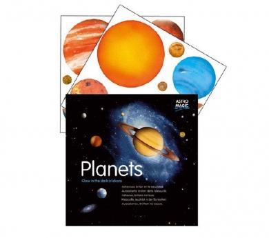 Planetas adhesivos brillantes
