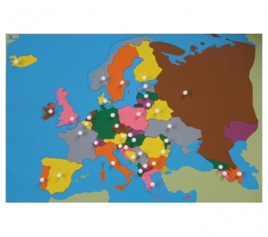 Mapa Puzzle de Europa y hoja de control