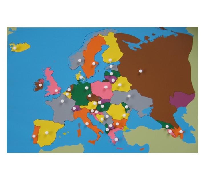Mapa Puzle d'Europa i full de control