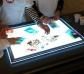Taula de llum de LEDS portàtil