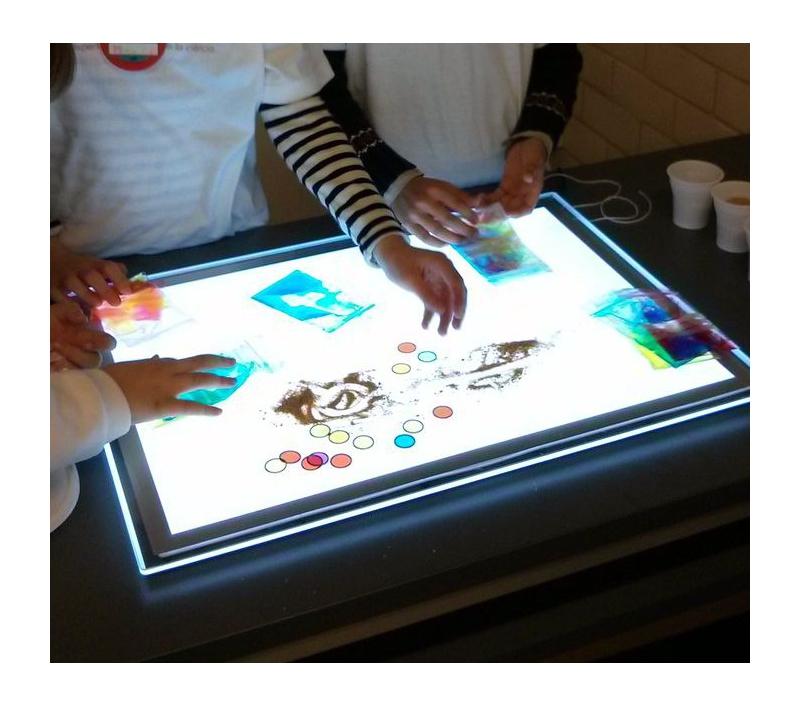 Mesa de luz de leds port til - Mesa de dibujo portatil ...