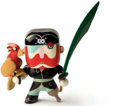 Muñeco pirata Sam y su loro