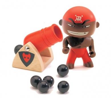 Muñeco pirata Djambo y su cañón
