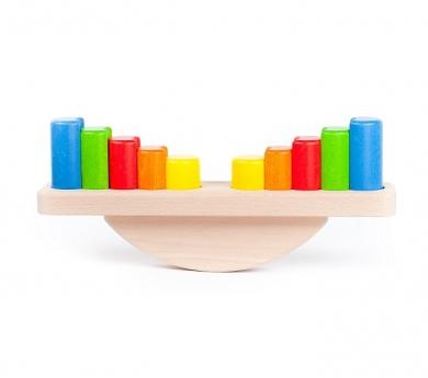 Balança de blocs de fusta