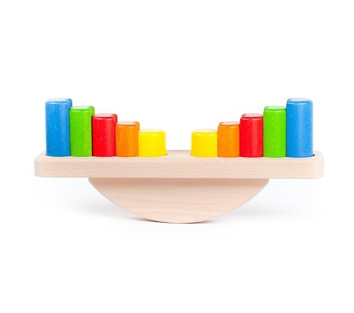 Balanza de bloques de madera