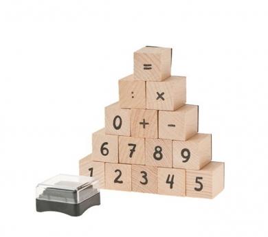 Sellos de números cubo