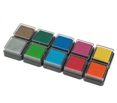 Caja de tampones de 10 colores