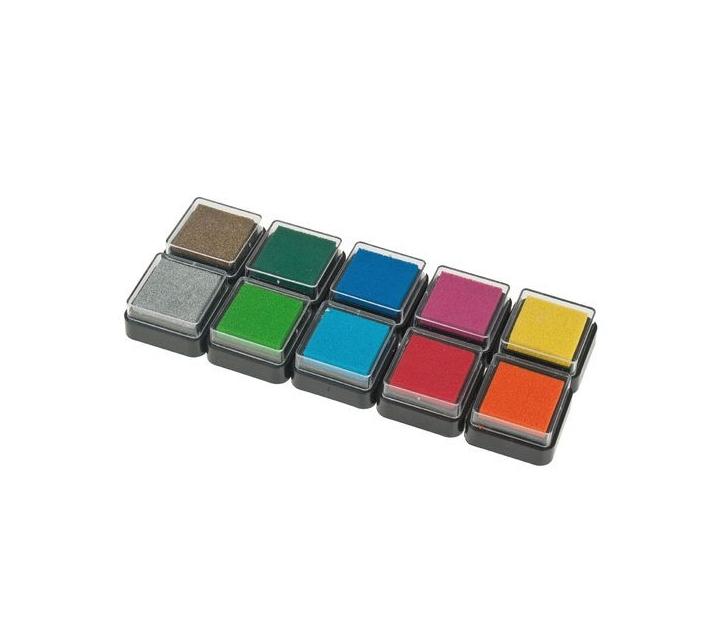 Caixa de tampons de 10 colors