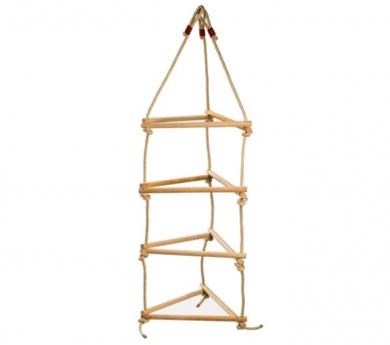 Escalera de cuerda triple Premium