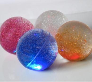 4 Bolas de luz con purpurina
