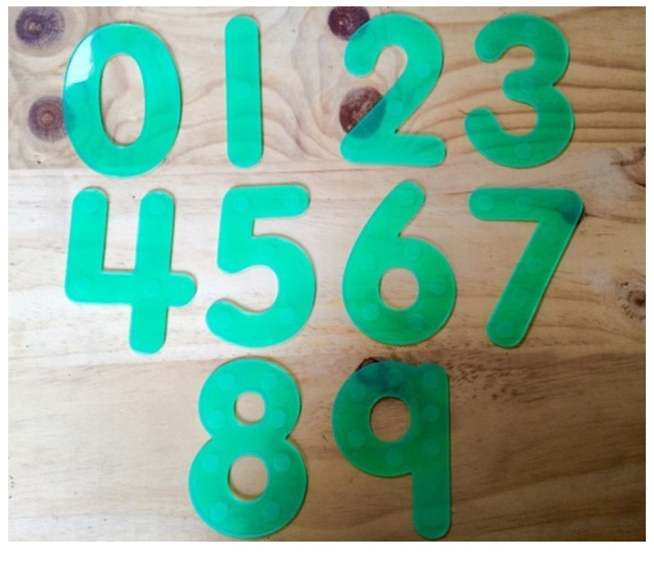 Números amb numerals de silicona