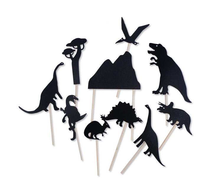 Sombras chinas dinosaurios