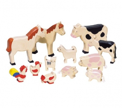 Conjunt d'animals de granja variats