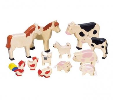 Conjunto de animales de granja variados