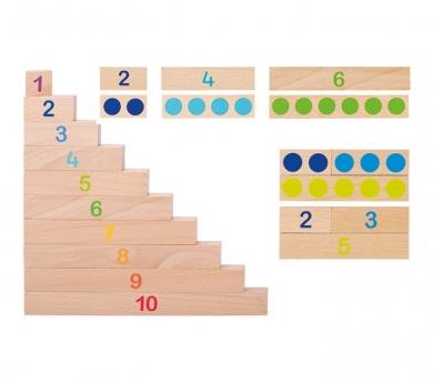 Regletas de cálculo con numerales