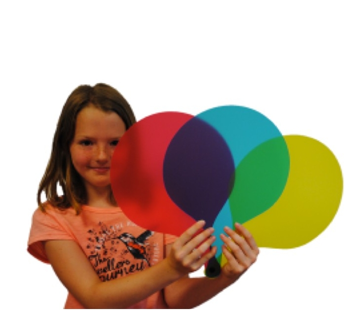 Palas grandes de colores