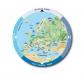 Disco giratorio mapa de Europa
