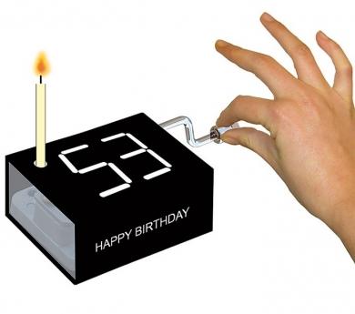 Cajita musical cumpleaños feliz con vela