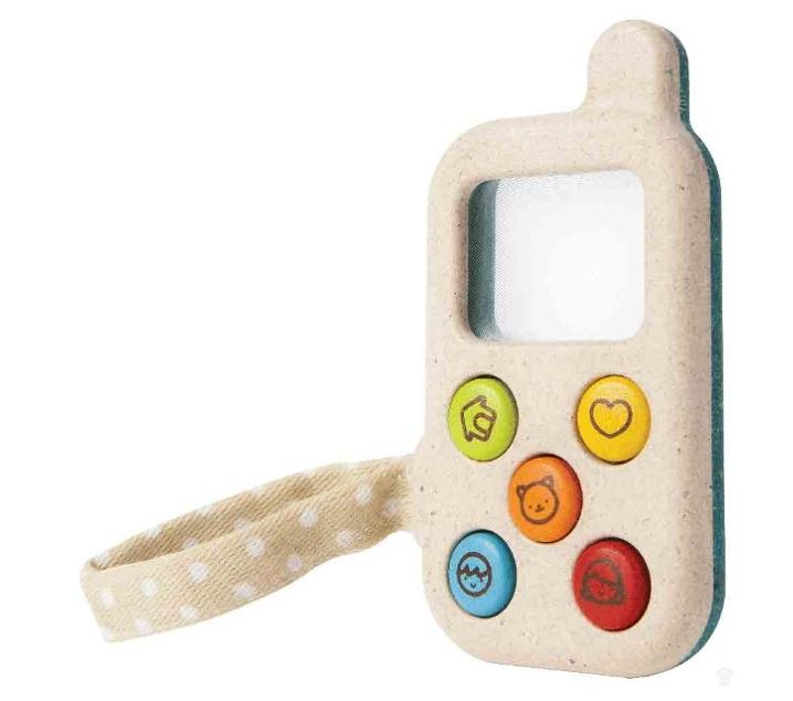 Teléfono de juguete con lupa