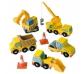 Conjunto de camiones de construcción de juguete