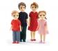 Muñecos articulados Familia Thomas y Marion