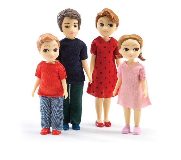 munecos articulados familia thomas y marion