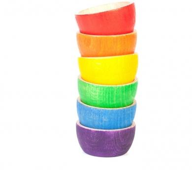 6 bols arco iris