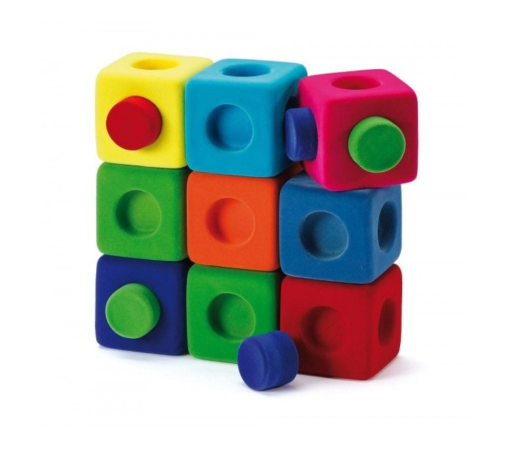 Cubos para constuir y encajar Rubbablox