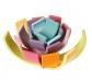 Arco iris Waldorf tonos pastel