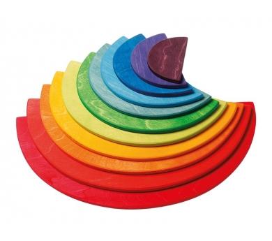 Semi cercles de colores per l'arc de sant martí Waldorf