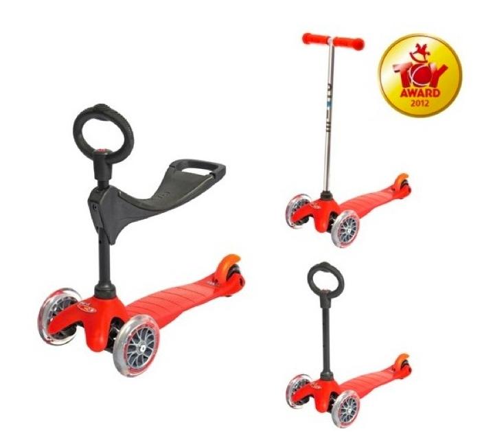 Mini micro 3 ruedas 3 en 1