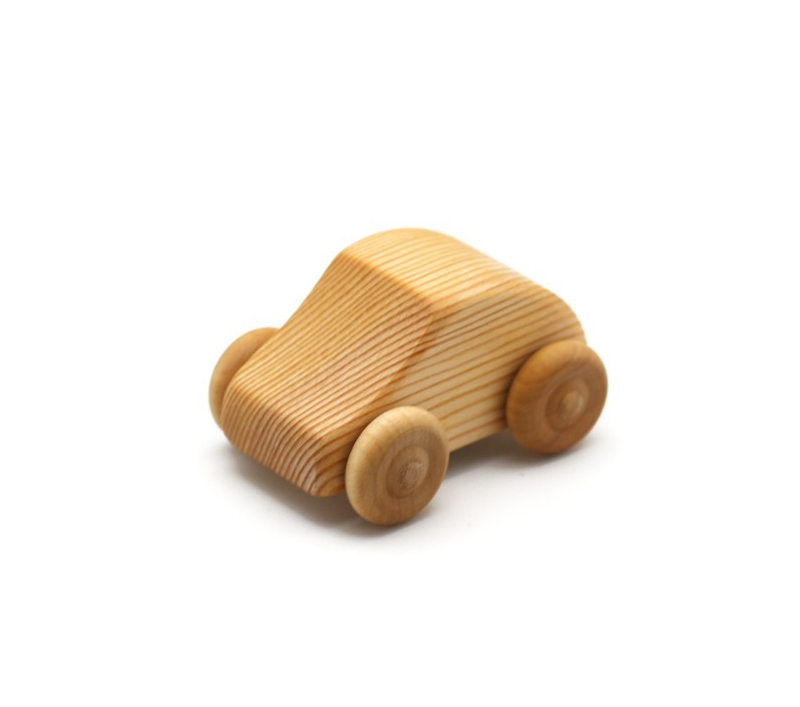 Coche Pequeno Mini Fiat De Madera