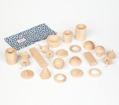 Piezas de madera para panera de tesoros