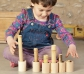 6 cubiletes de madera con tapa