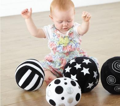 Bolas sensoriales monocromáticas