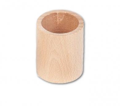Cubilete de exploración de madera