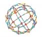 Esfera Hoberman arco iris 12cm.