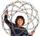 Esfera Hoberman arco iris 24cm.
