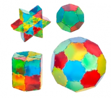 Polydron translúcido 164 piezas