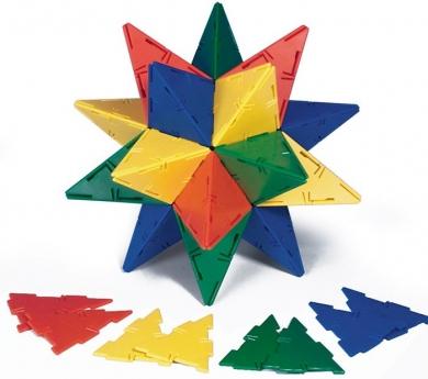 Polydron colores sólidos 184 piezas