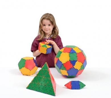 Polydron colores sólidos 164 piezas