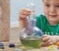 Botella transparente para pociones