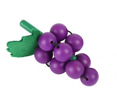 Racimo de uvas de madera